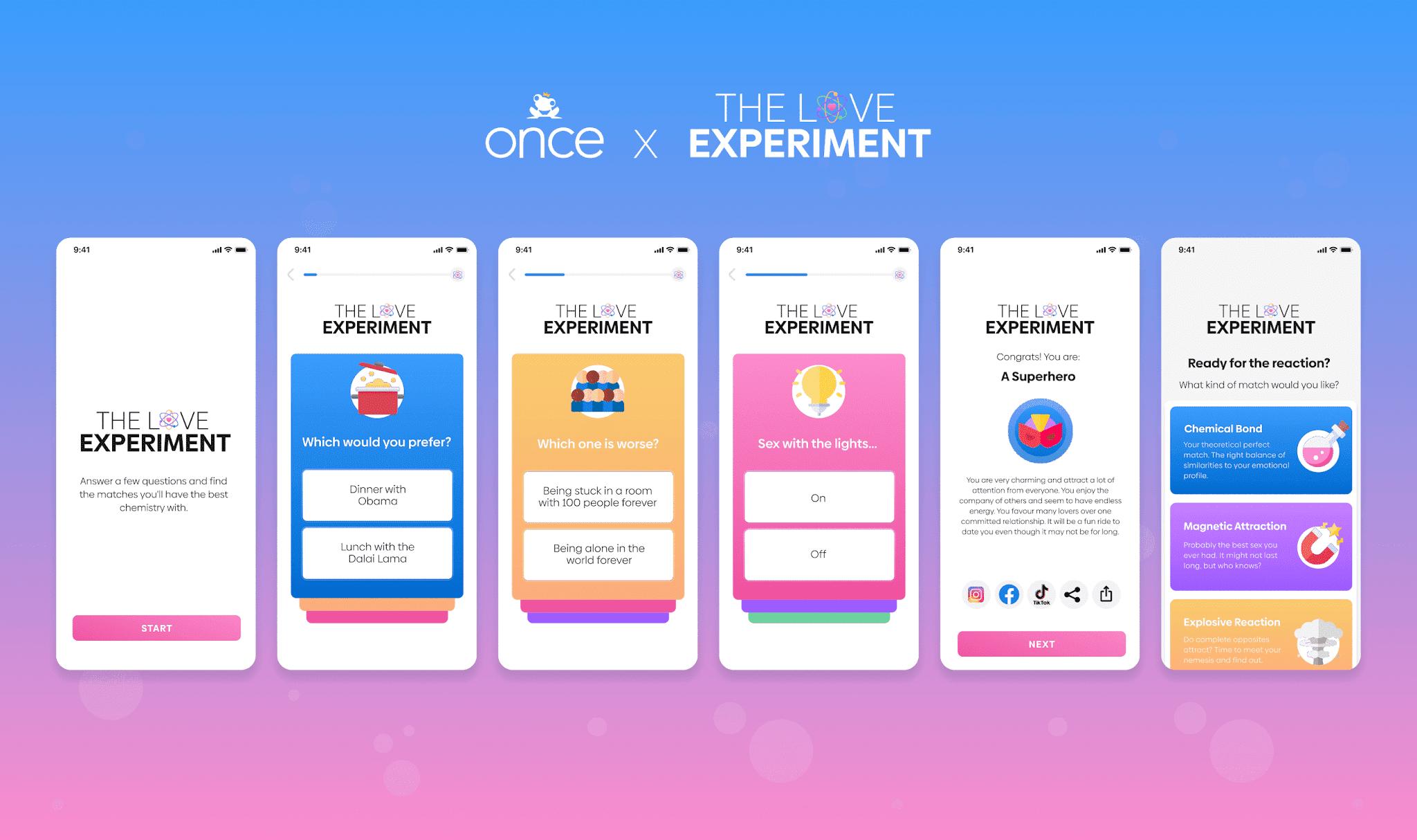 新しい出会い系アプリは、雑用をスリリングな「愛の実験」に変えることで、家父長制の繰り返しのマッチングを終了します|レビュー